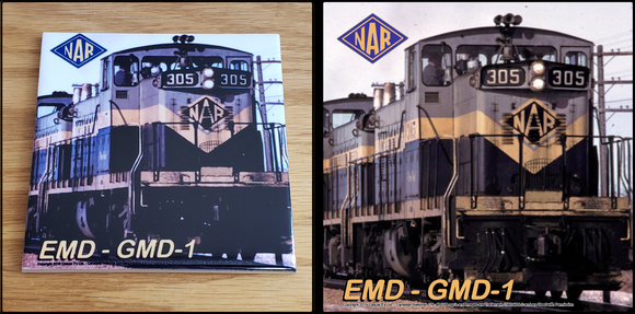 CN - NAR - Northern Alberta Railway GMD-1 Locomotive ceramic tile Casual Ts Apparel and Souvenirs