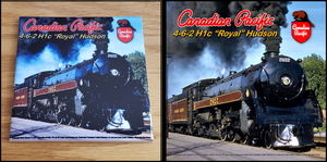 Canadian Pacific 4-6-2 H1-c Royal Hudson Locomotive Ceramic Tile Casual Ts Apparel and Souvenirs