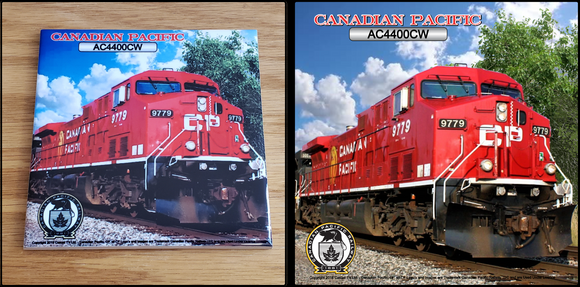 Canadian Pacific AC4400CW Locomotive ceramic tile Casual Ts Apparel and Souvenirs