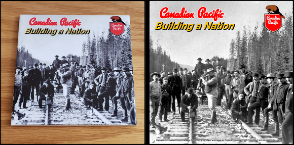 Canadian Pacific Building A Nation Track Gang ceramic tile Casual Ts Apparel and Souvenir
