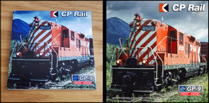 Canadian Pacific GP-9 Multimark High Hood Locomotive ceramic tile Casual Ts Apparel and Souvenirs