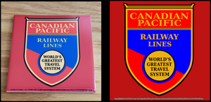 Canadian Pacific Railway Lines Worlds Greatest Travel System ceramic tile Casual Ts Apparel and Souvenirs