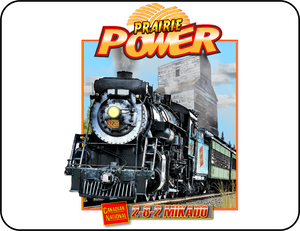 Canadian National 2-8-2 Mikado Prairie Power Logo Casual Ts Apparel and Souvenirs