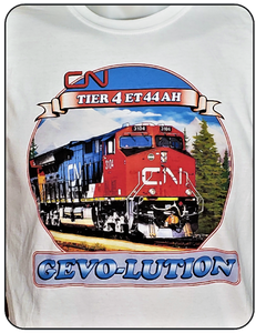 CN Canadian National Tier 4 ET44AH - GEVO-Lution Graphic Logo Casual Ts Apparel and Souvenirs