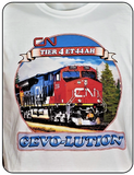 CN Canadian National Tier 4 ET44AH - GEVO-Lution Graphic T-shirt Casual Ts Apparel and Souvenirs