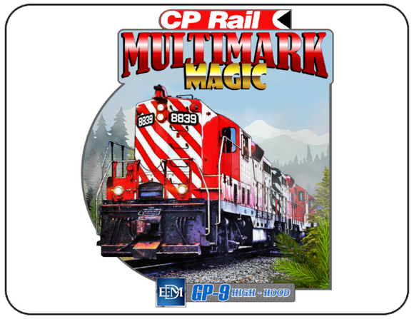 Canadian Pacific GP-9 High Hood Multimark Magic Graphic Logo Casual Ts Apparel and Souvenirs