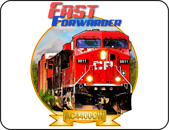 Canadian Pacific AC4400 Fast Forwarder Graphic Logo Casual Ts Apparel and Souvenirs