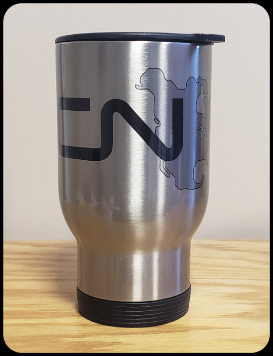 Canadian National - CN North America Logo Travel Mug Casual Ts Apparel and Souvenirs
