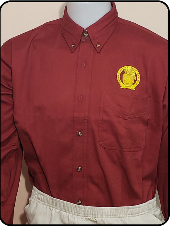 Canadian Pacific 1881 Golden Beaver Shield Maroon Work Shirt