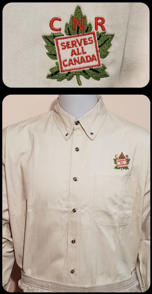 CNR Serves All Canada Reefer Colors Logo Ivory Work Shirt Casual Ts Apparel and Souvenirs