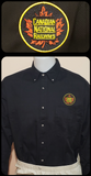 Canadian National Round Tender Herald Work Shirt Black Casual Ts Apparel and Souvenirs