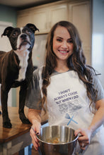I Cook for My Dog Colors Adjustable Apron