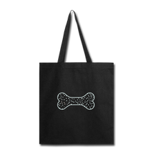 Shopping for My Dog Canvas Tote Bag - black