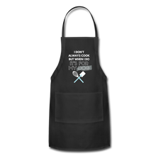 I Cook for My Dog Colors Adjustable Apron - black