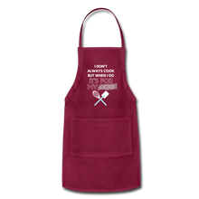 I Cook for My Dog Colors Adjustable Apron - burgundy