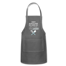 I Cook for My Dog Colors Adjustable Apron - charcoal