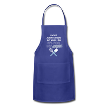 I Cook for My Dog Colors Adjustable Apron - royal blue