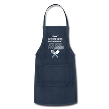I Cook for My Dog Colors Adjustable Apron - navy