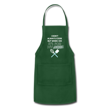 I Cook for My Dog Colors Adjustable Apron - forest green