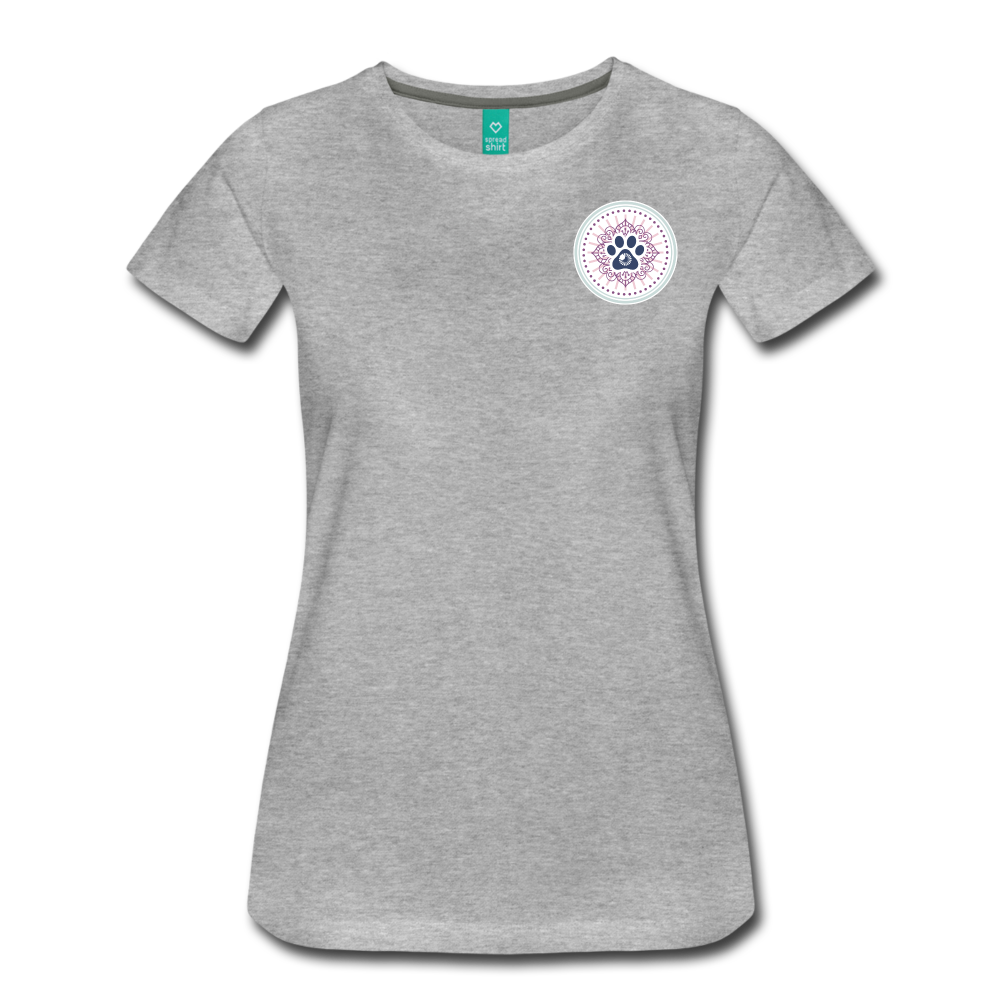 Third Eye Holistic Pet Wellness Women's Tri-Blend V-Neck T - heather gray