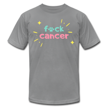 Retro F*ck Cancer Unisex Jersey T-Shirt - slate