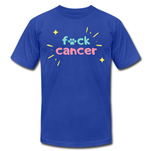 Retro F*ck Cancer Unisex Jersey T-Shirt - royal blue