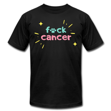 Retro F*ck Cancer Unisex Jersey T-Shirt - black