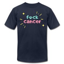 Retro F*ck Cancer Unisex Jersey T-Shirt - navy