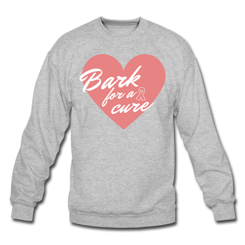 Bark for a Cure Crewneck Unisex Sweatshirt - heather gray