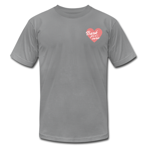 Bark for a Cure Unisex Jersey T-Shirt - slate