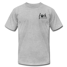 F*ck Cancer Black Paw Unisex Jersey T-Shirt - heather gray