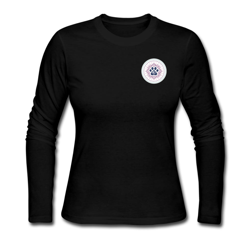Third Eye Holistic Pet Wellness Women's Long Sleeve Jersey T - black