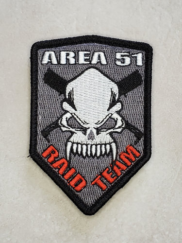 Area 51 Raid Team Embroidered Morale Patch