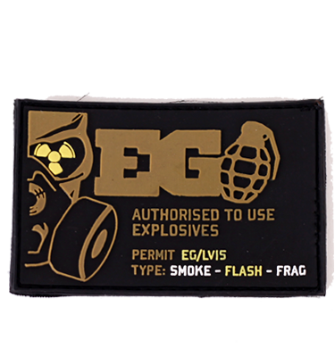 EG Explosives User PVC Patch