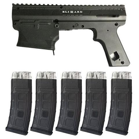 Tacamo Blizzard Tippmann 98 Magfed Conversion Kit with 5 Magazines