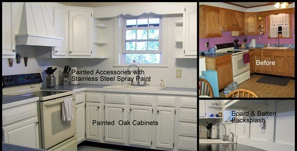 How to Paint Oak Cabinets!
