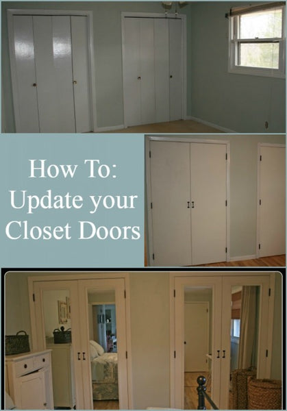 Update your Ugly Bi-fold Closet Doors!