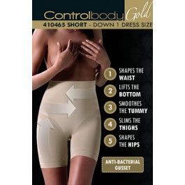 Control Body 410465G Shaping Short Nero
