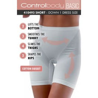 Control Body 410493 Shaping Short Bianco
