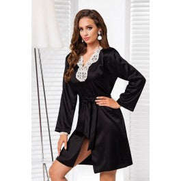 Irall Alexandra Dressing Gown Black