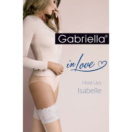 Isabelle Hold Ups Natural/Blue
