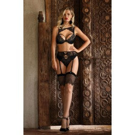 Roza Kena Black Suspender Belt