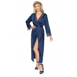 Irall Yoko Dressing Gown Navy Blue