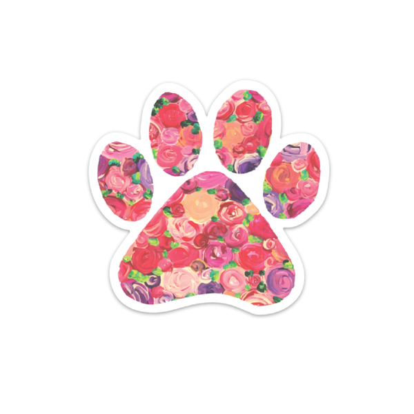 The Farming Artist - Mini Floral Paw Print Decal Sticker - Simple Pleasures ~ Bountiful Treasures