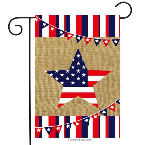 Burlap Patriotic Star - Simple Pleasures ~ Bountiful Treasures
