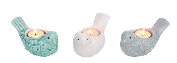 Multicolor Ceramic Bird Tealight Holders - Simple Pleasures ~ Bountiful Treasures