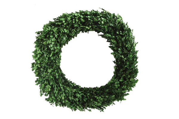Preserved Real Boxwood Wreath - Simple Pleasures ~ Bountiful Treasures
