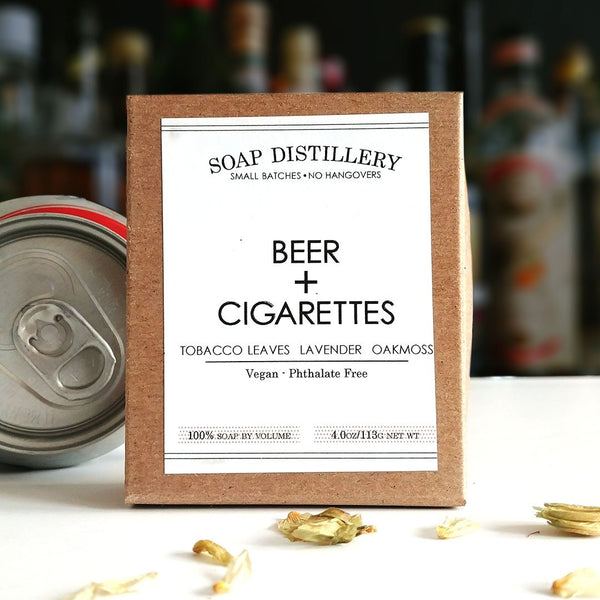 Soap Distillery - Beer + Cigarettes Soap Bar