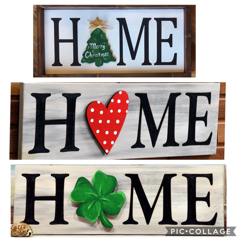 Pizza and a Project - Interchangeable HOME Sign