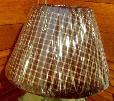 Burgundy Plaid Lamp Shade